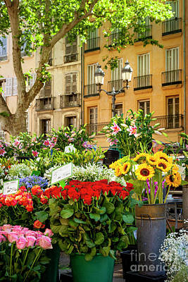 Impressionist Nudes Old Masters - Flowers at Market by Brian Jannsen