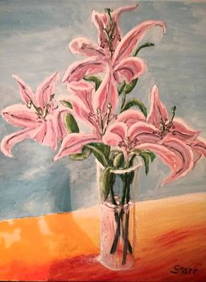 Painting Royalty Free Images - Flowers For My Wife Royalty-Free Image by Irving Starr