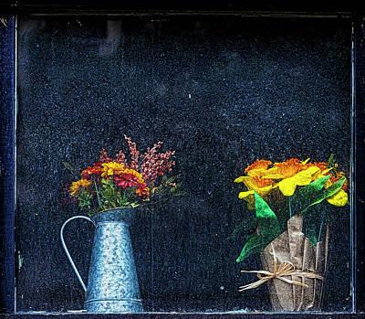 Parks - Flowers in a Dirty Window by Robert Ullmann