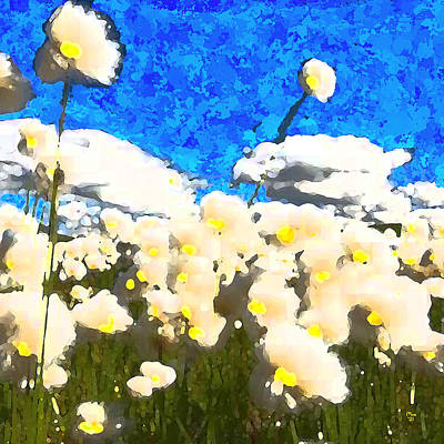 Popstar And Musician Paintings - Flowers in the Breeze by Jason Mix