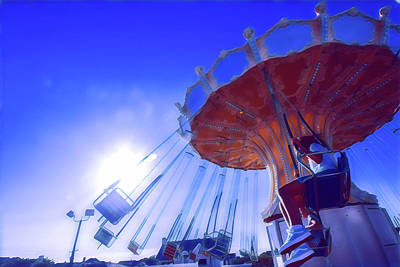 Surrealism Royalty-Free and Rights-Managed Images - Flying Chair Ride at Wonderland by Surreal Jersey Shore