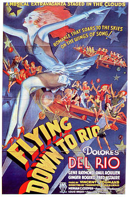 Royalty-Free and Rights-Managed Images - Flying Down to Rio movie poster 1933 by Stars on Art