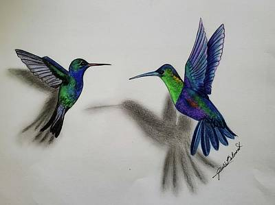 Painting - Flying Friends by Julie Belmont