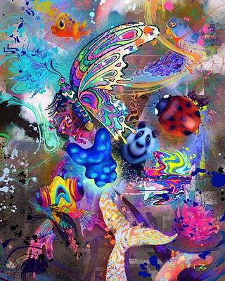 Digital Art - Flying Gummy Bear by Jordan Soliz