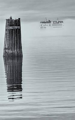 Photograph - Fog Enshrouded Ferry by Tony Locke