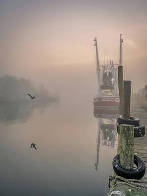 Pop Art - Foggy Bayou Morning, 4/7/21 by Brad Boland