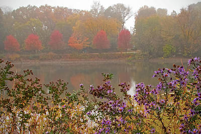 Ira Marcus Royalty-Free and Rights-Managed Images - Foggy Day on the Fox River by Ira Marcus