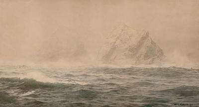 Angels And Cherubs - Foggy Day by William Trost Richards
