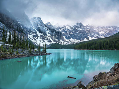 Pittsburgh According To Ron Magnes - Foggy Morning Moraine Lake, Banff National Park, Alberta, Canada by Yves Gagnon