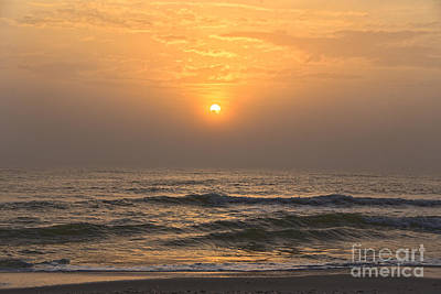 Beaches And Waves Rights Managed Images - Foggy Sunset on Cape San Blas Royalty-Free Image by Catherine Sherman