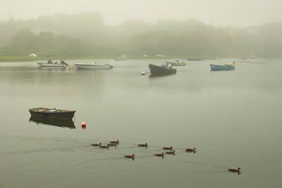 Vintage Movie Stars - Foggy Tidal River in Chatham by John Burk
