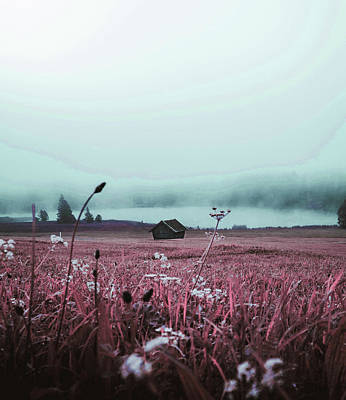 Surrealism Royalty Free Images - Foggy Weather - Surreal Art by Ahmet Asar Royalty-Free Image by Celestial Images