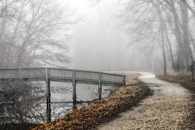 Superhero Ice Pop - Foggy Winter Towpath by Francis Sullivan
