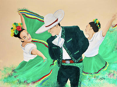 Painting - Folk Dance 1 by Gary 'TAS' Thomas
