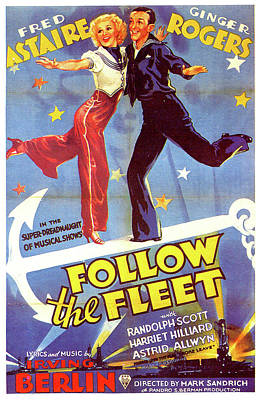 Royalty-Free and Rights-Managed Images - Follow the Fleet movie poster by Stars on Art