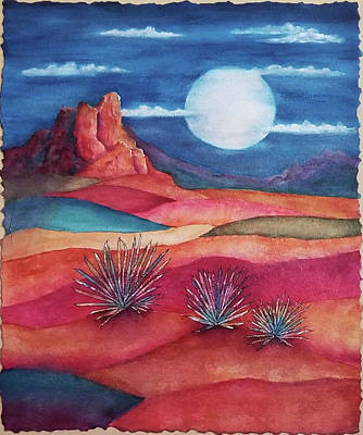 Mixed Media - Follow the Moon by Terry Ann Morris