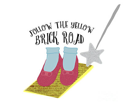 Fantasy Royalty-Free and Rights-Managed Images - Follow the Yellow Brick Road by Priscilla Wolfe