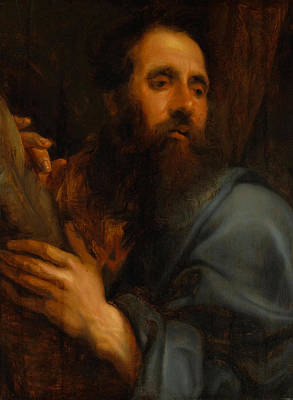 Pasta Al Dente - FOLLOWER OF SIR ANTHONY VAN DYCK Flemish 1599 1641 St Andrew by Artistic Rifki