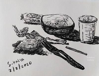 Drawing - Food Garbage by Sukalya Chearanantana
