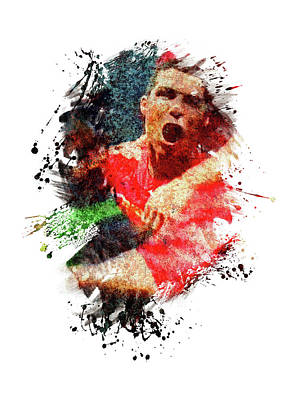 Sports Royalty-Free and Rights-Managed Images - Football Legend by All Sport Art
