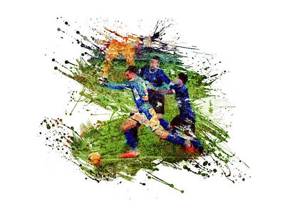 Sports Royalty-Free and Rights-Managed Images - Football match by All Sport Art