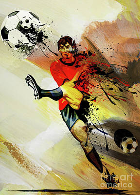 Sports Royalty-Free and Rights-Managed Images - Footballer playing  by Gull G