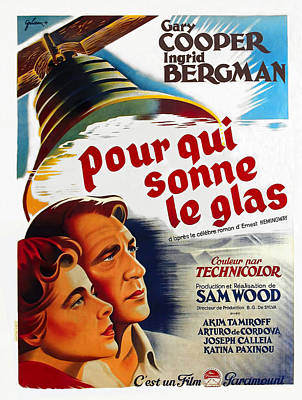 Royalty-Free and Rights-Managed Images - For Whom the Bell Toll, with Gary Cooper and Ingrid Bergman, 1943 by Stars on Art