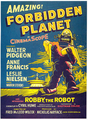 Royalty-Free and Rights-Managed Images - Forbidden Planet movie poster 1956 by Stars on Art