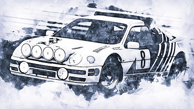 Modern Man Famous Athletes - Ford RS200 - 05 by AM FineArtPrints