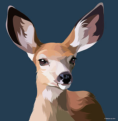 Mixed Media Royalty Free Images - Forest deer Royalty-Free Image by Stars on Art