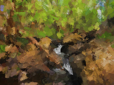 Whimsical Flowers - Forest Stream Abstract by Francis Sullivan