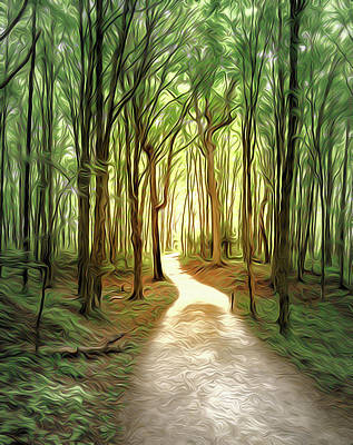 All American - Forest trail airbrush by Alexey Stiop