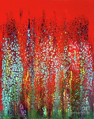 Sports Paintings - Forever a Red by Karen Adams
