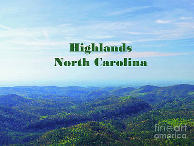 Mixed Media Royalty Free Images - Forever View Highlands North Carolina Royalty-Free Image by Sharon Williams Eng