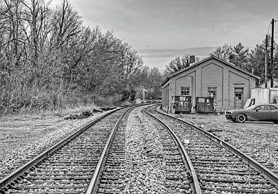 Anchor Down Royalty Free Images - Forlorn Railroad Tracks to Nowhere Royalty-Free Image by Douglas Barnett