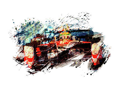 Sports Royalty-Free and Rights-Managed Images - Formula one racing by All Sport Art
