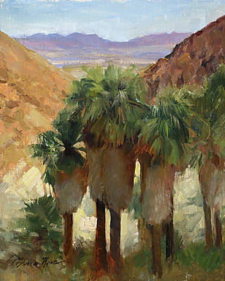 Painting - Fortynine Palms Oasis by Anna Bain