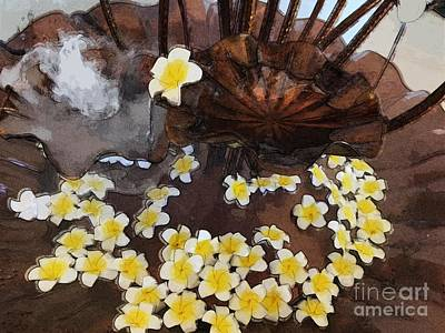 Cargo Boats - Fountain with Narcissus by Katherine Erickson