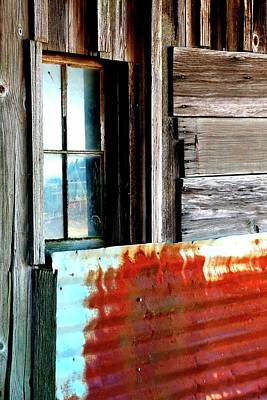 Jerry Sodorff Royalty-Free and Rights-Managed Images - Four Window Panes Rusty Metal by Jerry Sodorff