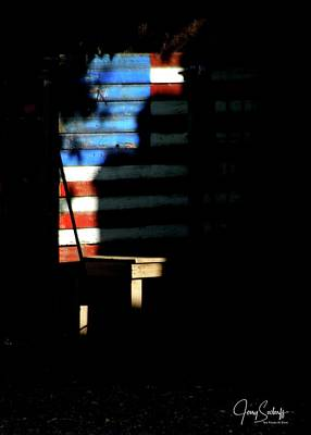 Jerry Sodorff Royalty-Free and Rights-Managed Images - Fourth Of July Flag by Jerry Sodorff