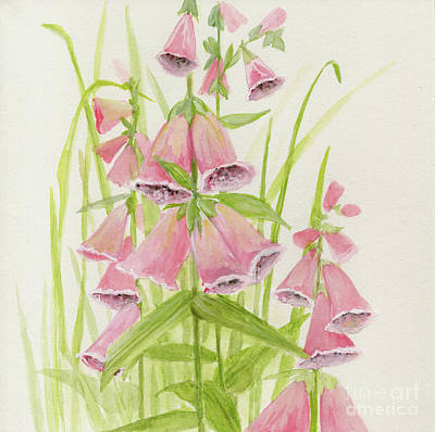 Painting - Foxglove from the Past by Laurie Rohner