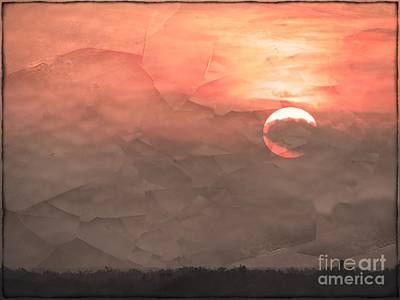 Farmhouse Rights Managed Images - Fractured Morning Sun Royalty-Free Image by Gary Richards