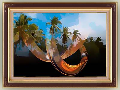 Digital Art - Palm Trees In The Sky by Clive Littin