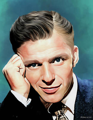 Royalty-Free and Rights-Managed Images - Frank Sinatra illustration by Stars on Art