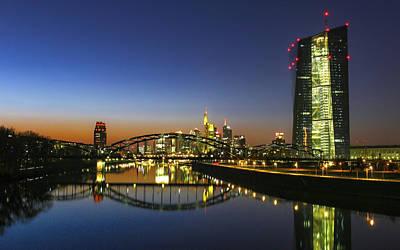 Grace Kelly - Frankfurt Sunset Skyline by Norma Brandsberg