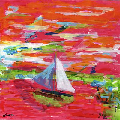 Painting - Frankfurter Harbour by Nimrod Stark