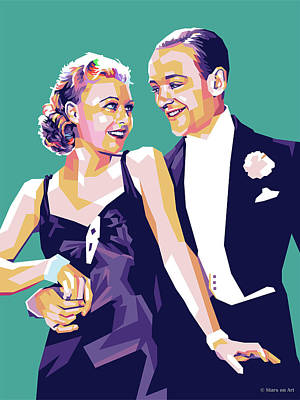 Royalty-Free and Rights-Managed Images - Fred Astaire and Ginger Rogers by Stars on Art