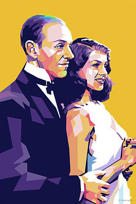 Royalty-Free and Rights-Managed Images - Fred Astaire and Rita Hayworth by Stars on Art