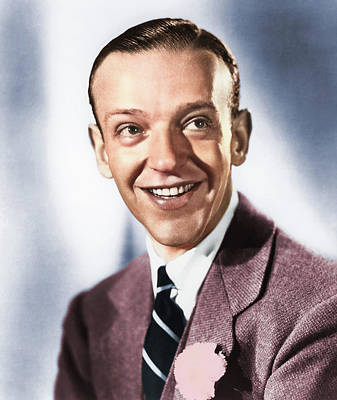 Katharine Hepburn - Fred Astaire colorized by Stars on Art