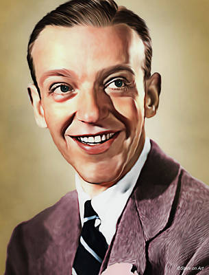 Royalty-Free and Rights-Managed Images - Fred Astaire illustration by Stars on Art